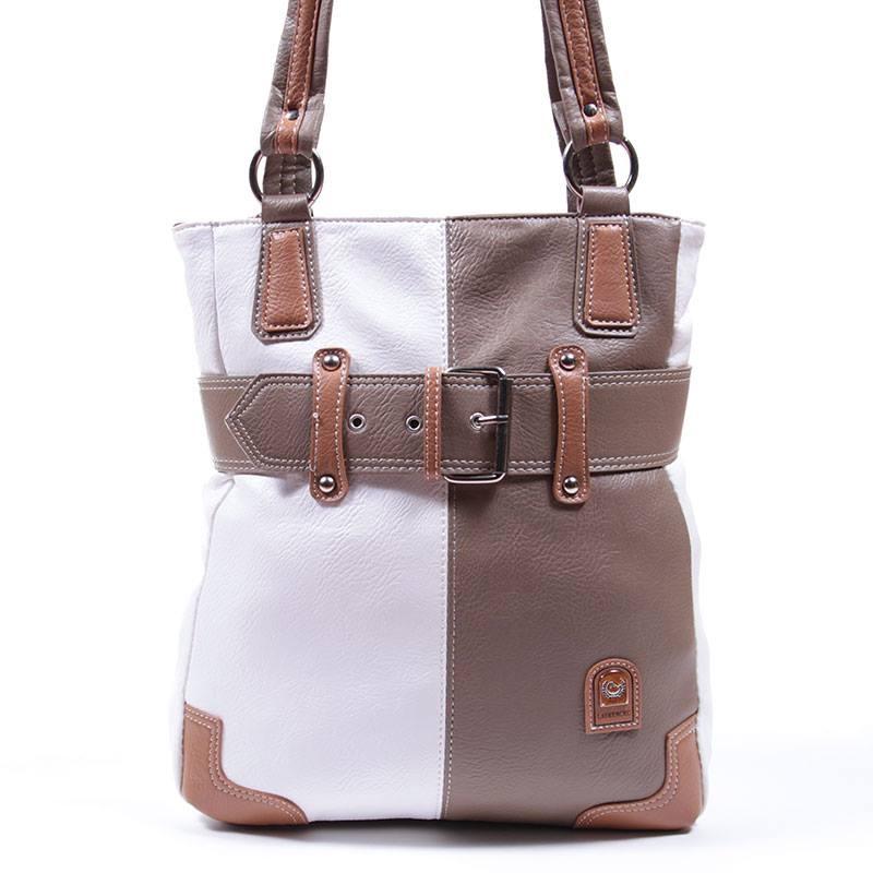 Laurence C khaki-fehér női táska 8a23d28c31