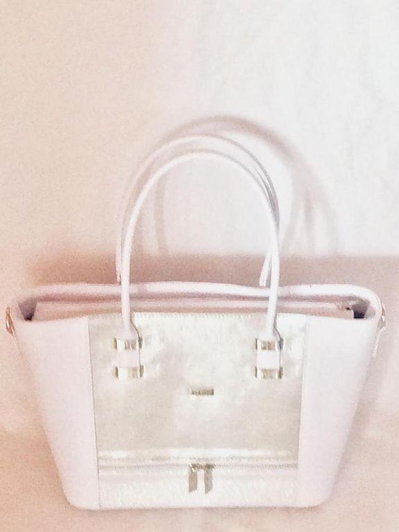 Via55 fehér-ezüst rostbőr női táska 849e2a420f