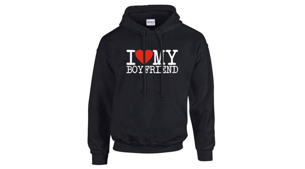 3c7c6703ab Feliratos kapucnis pulóver - I love my Boyfriend