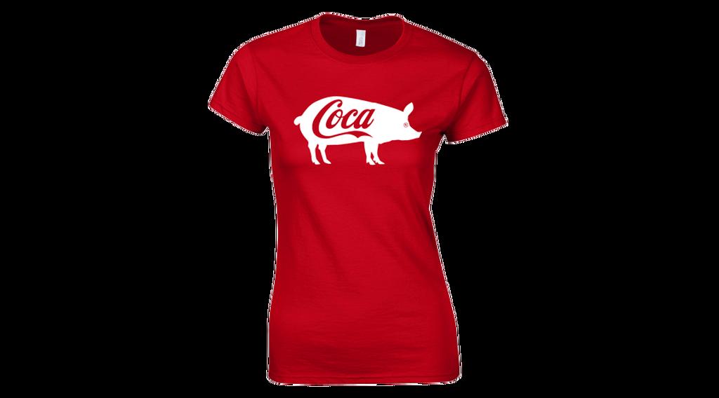 ce75585378 Feliratos női póló - Coca