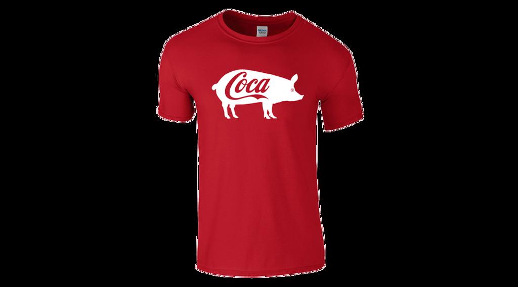 Feliratos férfi póló - Coca b408cc8735