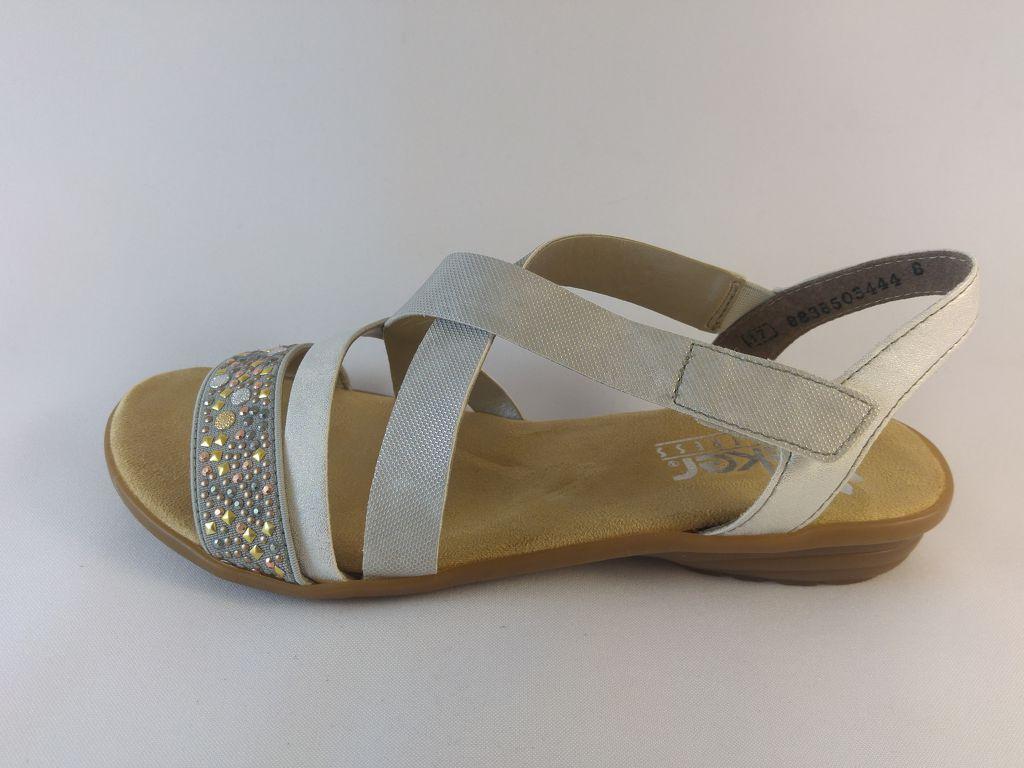 NŐI SZANDÁL RIEKER 61916 80 fehér Andi Cipő Webáruház