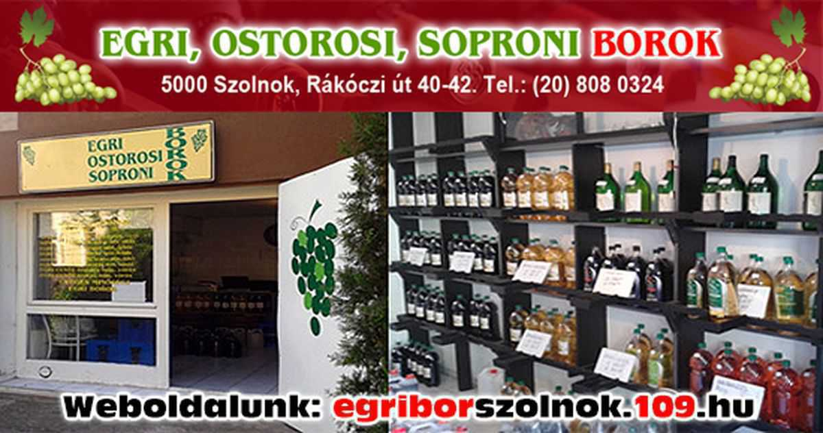 Egri borok Szolnok
