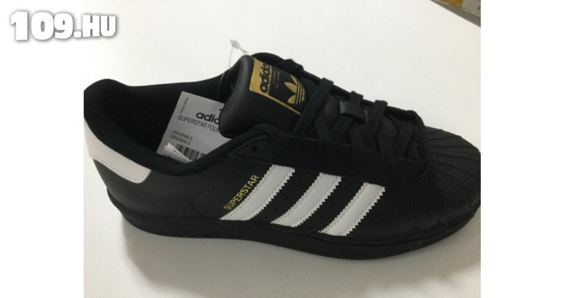 Adidas fekete sportcipő SUPERSTAR FOUNDATIO ac8974619b