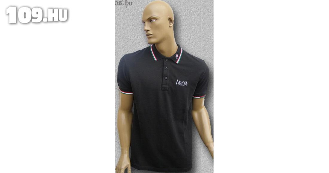HARCOS galléros póló (fekete)